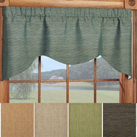 Handsome Shaped Window Valance 52 x 21