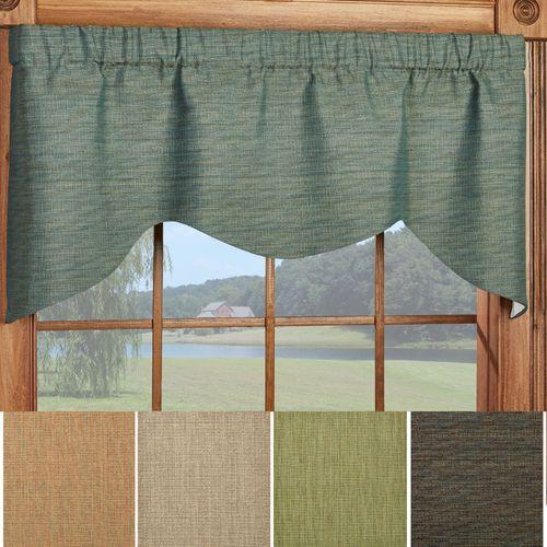 Handsome Shaped Window Valance 52 x 21