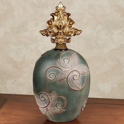 Vasilia Vines Covered Jar Spruce