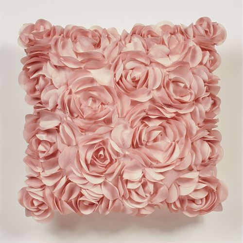 Blush Rose Tailored Pillow 16 Square