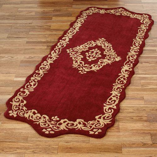 Palatial Wool Runner Rug Ruby 3 x 8