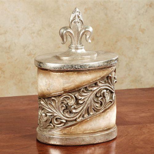 Appollonia Covered Jar Platinum