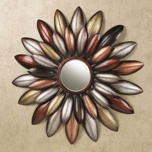 Arris Floral Mirrored Wall Art Multi Metallic
