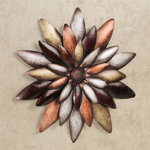 Arris Floral Blossom Wall Art Multi Metallic