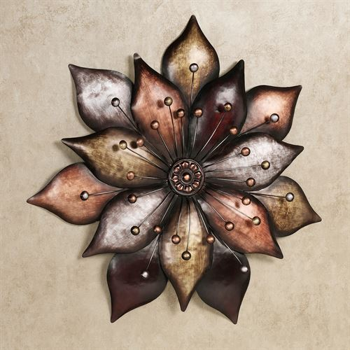Arris Floret Wall Art Multi Metallic