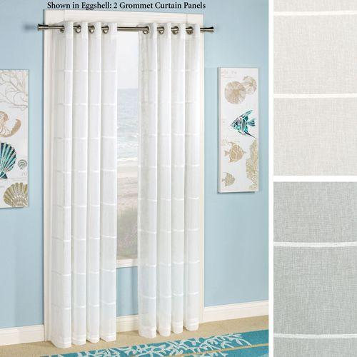 Horizon Stripe Grommet Curtain Panel