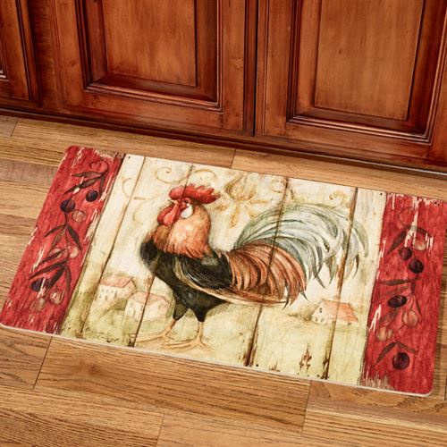 Rustic Rooster Kitchen Comfort Mat Multi 16 x 26
