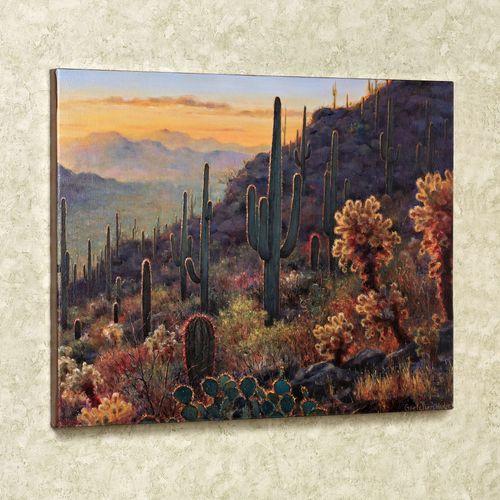 Sonoran Sunset Canvas Wall Art Multi Warm