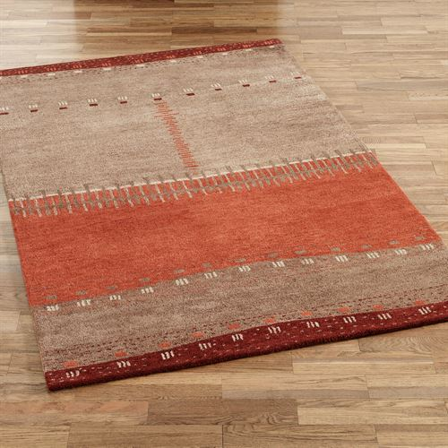 Path in Sand Rectangle Rug Brown