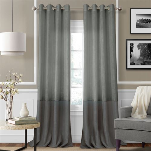 Melody Semi Sheer Grommet Curtain Panel
