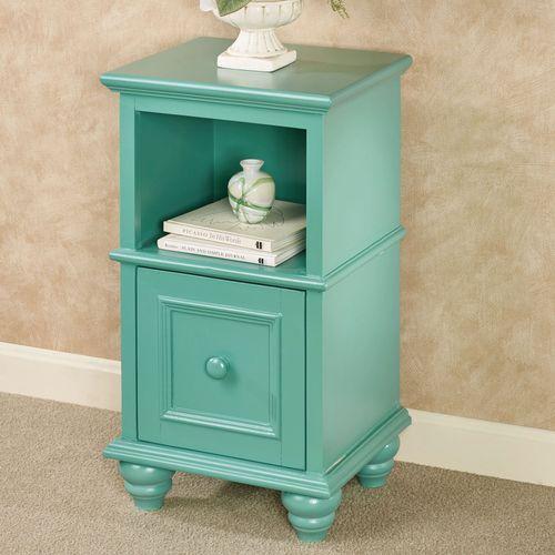 McKale Turquoise Accent Table