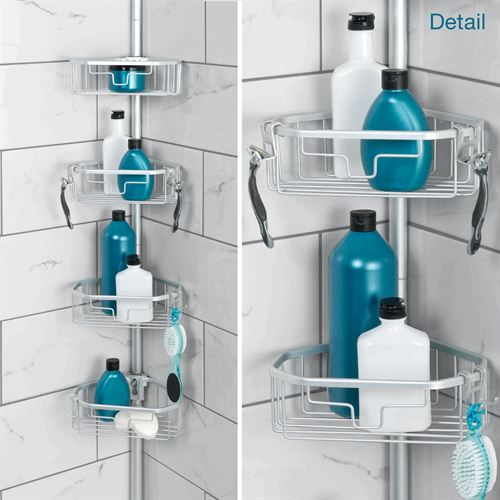 NeverRust Tension Pole Corner Shower Caddy