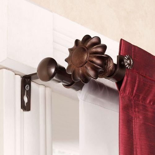 Flair Cocoa Double Curtain Rod Set