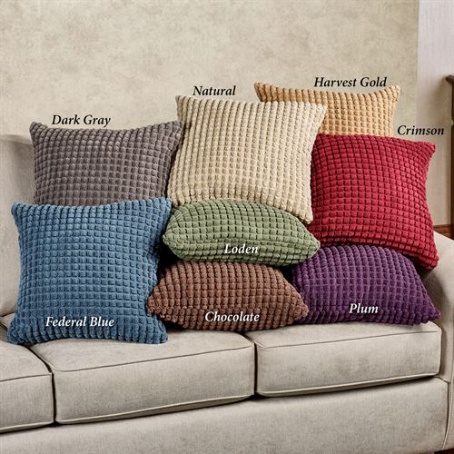 Premier Puff Solid Color Decorative Pillows Tailored Pillow 18 Square