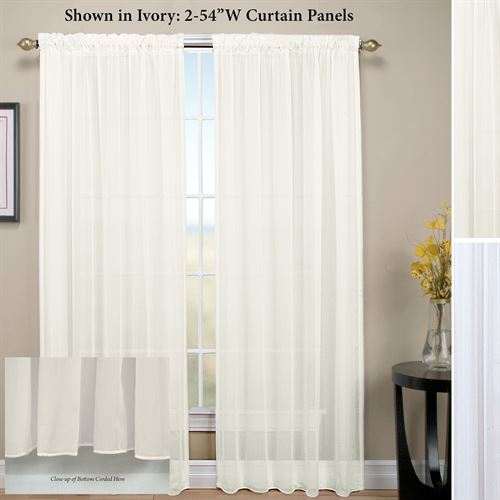 Tergaline Sheer Curtain Panel