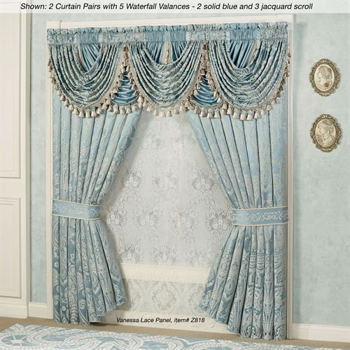 Regency Tailored Curtain Pair Parisian Blue