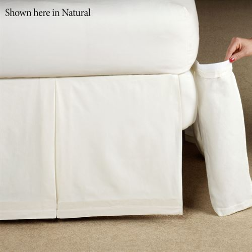 Delaney Detachable Box Pleated Bedskirt