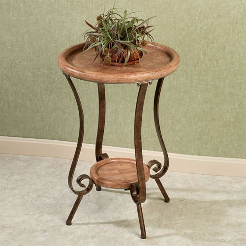 Moderno Scroll Accent Table Bronze