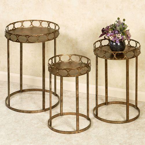 Regal Lux Nesting Tables Dark Gold Set of Three