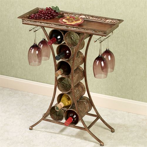 Vinum Wine Rack Table Dark Gold