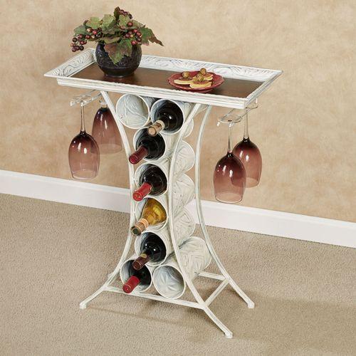Vinum Wine Rack Table Antique White