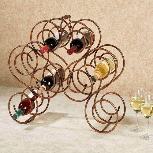 Brady Wine Bottle Rack Burnished Bronze