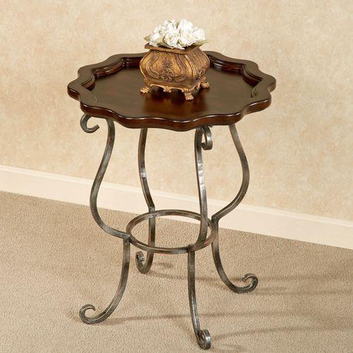 Minerva Accent Table Regal Walnut