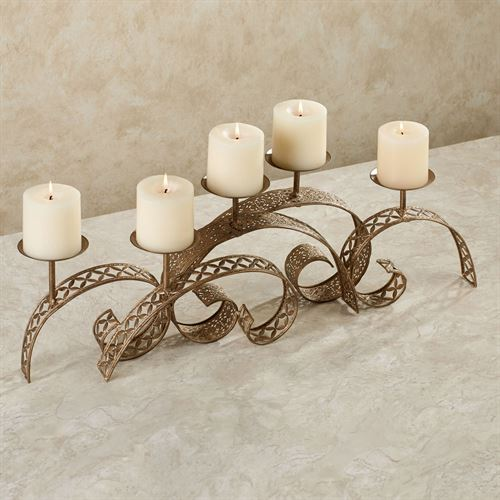 Hamish Table Candelabra Antique Gold