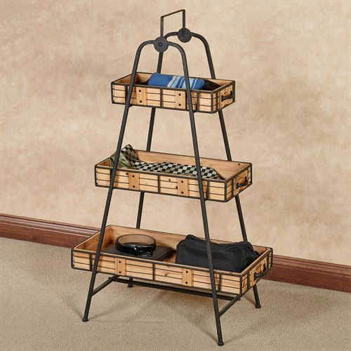 Cohan Three Tier Shelf Natural Oak