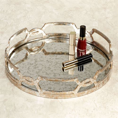 Marla Vanity Tray Silver with Gold