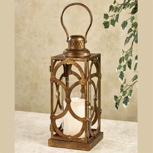 Regal Lux Lantern Candleholder Dark Gold