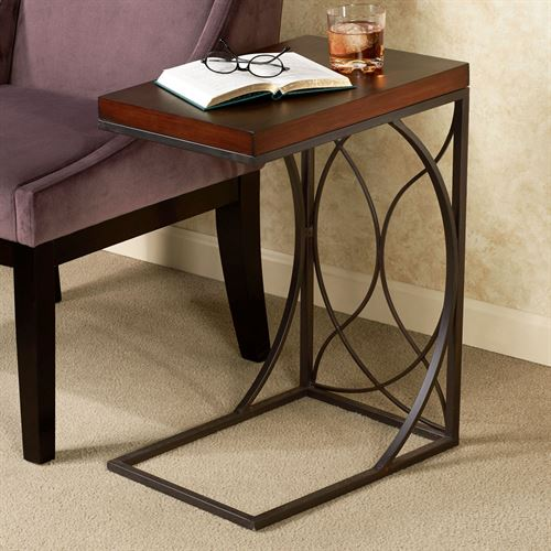 Beau Miley C Shaped Side Table. Miley Side Table Regal Walnut