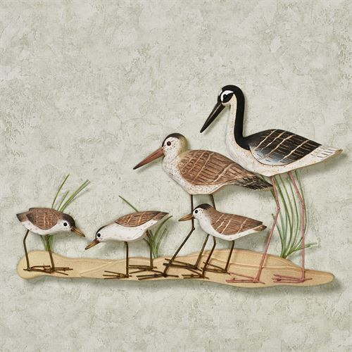 Sandpiper Family Wall Sculpture Brown