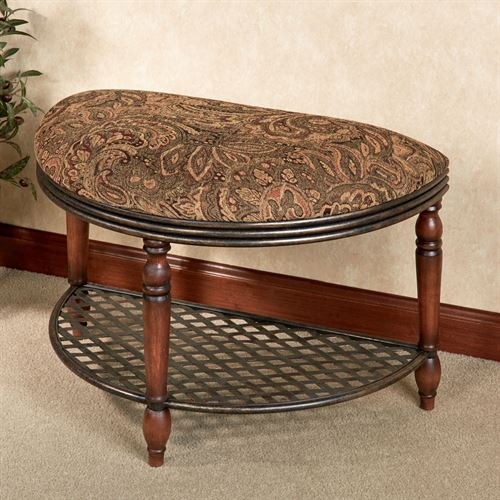 Cierra Half Moon Bench Natural Cherry