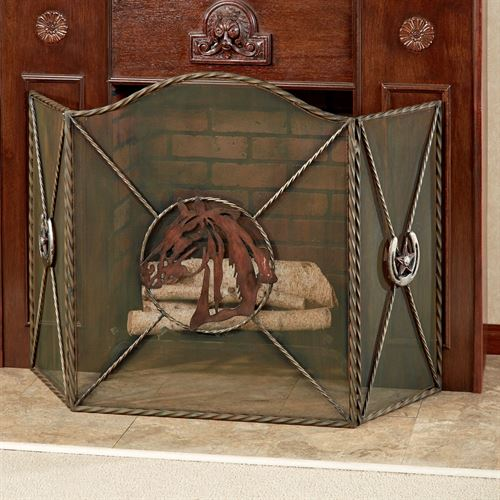 Western Star Fireplace Screen Multi Warm