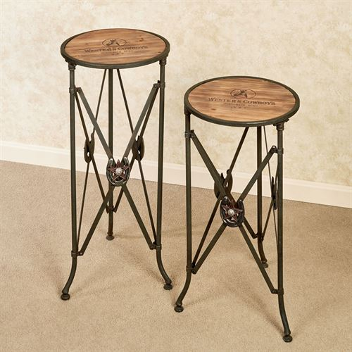 Western Star Accent Tables Multi Warm Set of Two