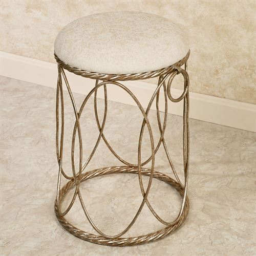 Katryna Vanity Stool Gold Silver