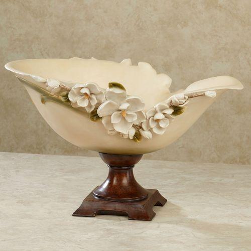 Magnolia Charm Centerpiece Bowl Ivory