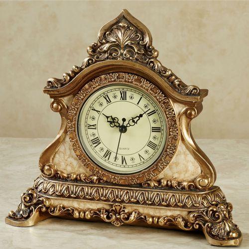 Arellia Accent Clock Gold/Ivory