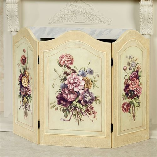 Floral Dreams Decorative Fireplace Screen Multi Pastel