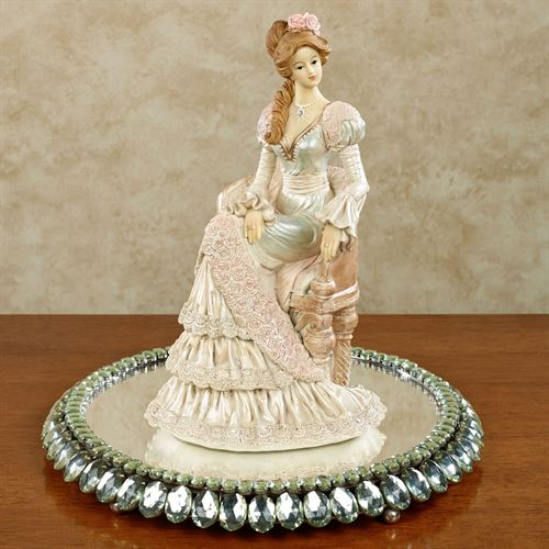 Divine Silhouette Lady Figurine Multi Pastel