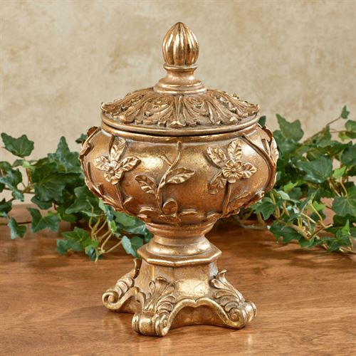 Rosebella Covered Bowl Venetian Gold
