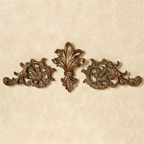 Tazia Wall Toppers Gold/Bronze Set of Three