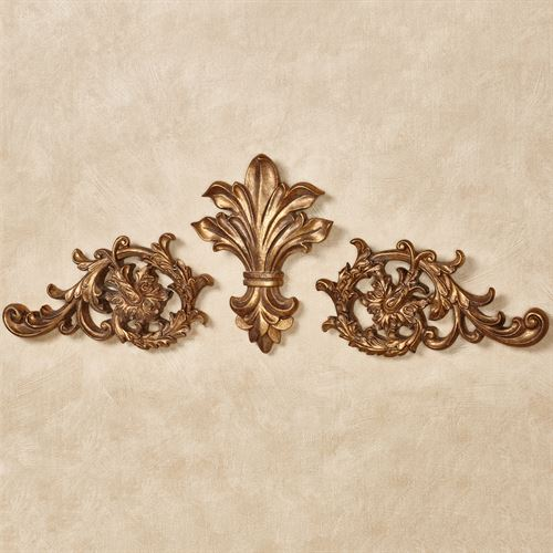 Tazia Wall Toppers Antique Gold Set of Three
