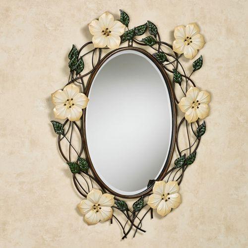 Magnolia Oval Wall Mirror Ivory