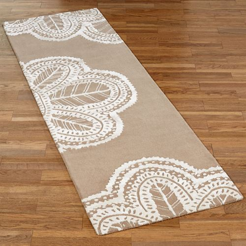 Antique Lace Rug Runner Taupe 26 x 8