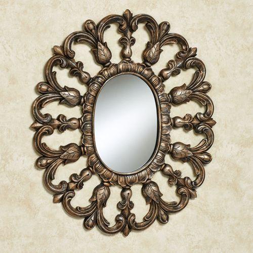 Azura Oval Wall Mirror Gold/Black