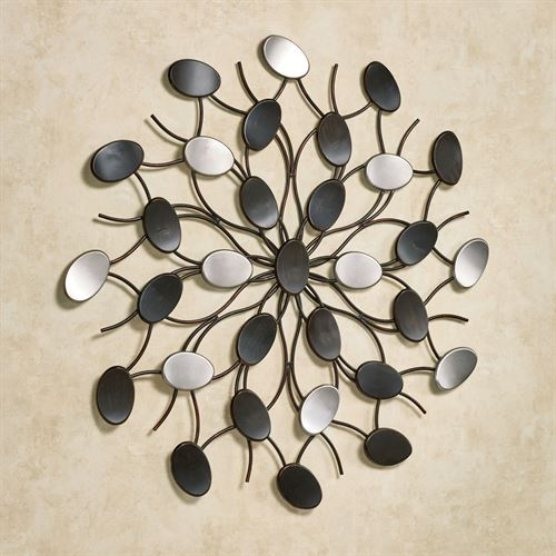 Radiant Petals Wall Art Multi Metallic