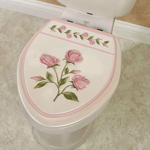 Bridal Rose Elongated Toilet Seat Blush