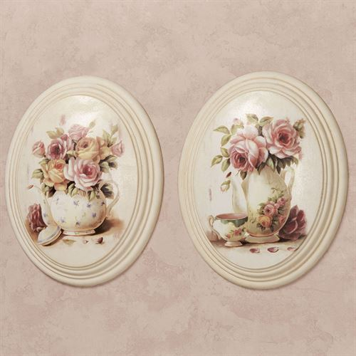 Gracelyn Wall Plaques Multi Pastel Set of Two